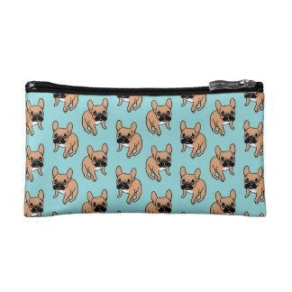 The Cute Black Mask Fawn Frenchie Needs Attention Makeup Bag