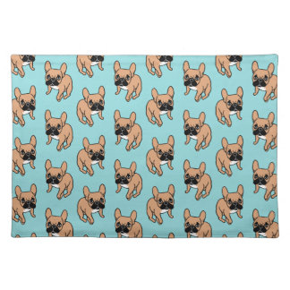 The Cute Black Mask Fawn Frenchie Needs Attention Placemat