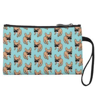 The Cute Black Mask Fawn Frenchie Needs Attention Wristlet