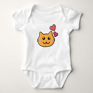 The cute cat baby bodysuit