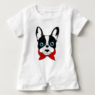 The cute Frenchie scout is ready for his adventure Baby Romper