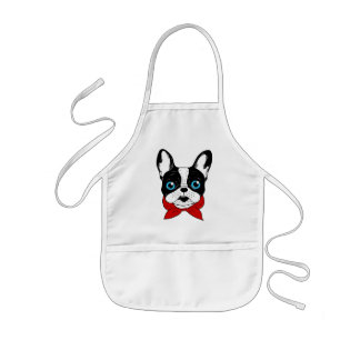 The cute Frenchie scout is ready for his adventure Kids Apron