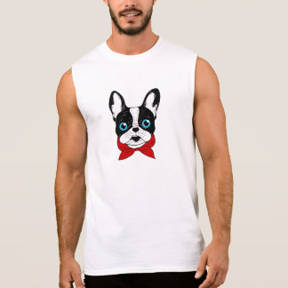 The cute Frenchie scout is ready for his adventure Sleeveless Shirt