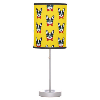 The cute Frenchie scout is ready for his adventure Table Lamp