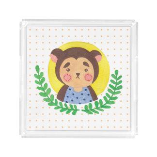 The Cute Monkey Acrylic Tray
