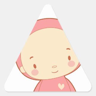 The Cute Moose Triangle Sticker