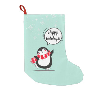 The Cute Penguin Small Christmas Stocking