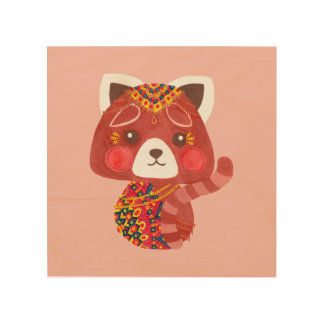 The Cute Red Panda Girl Nursery Wall Art