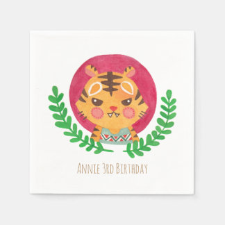 The Cute Tiger Paper Napkins