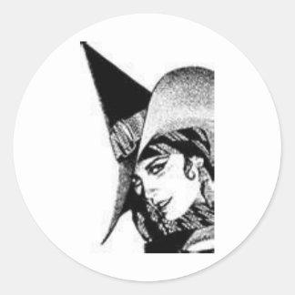 The Cute Witch Classic Round Sticker