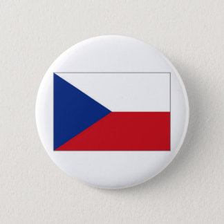 The Czech Republic National Flag 2 Inch Round Button