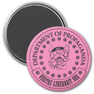 "The D.O.P. - S.A. Hogg 3"" Round Magnet (Pink)"