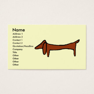 The Dachshund Business Card