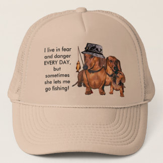 The Dachshund Fisherman Trucker Hat