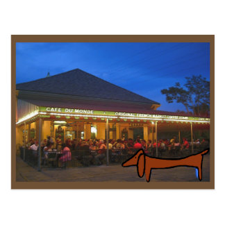 The  Dachshund New Orleans Coffee Stand Postcard