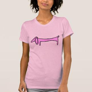 The Dachshund Pink Tee Shirts