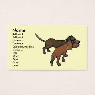The Dachshunds Business Card