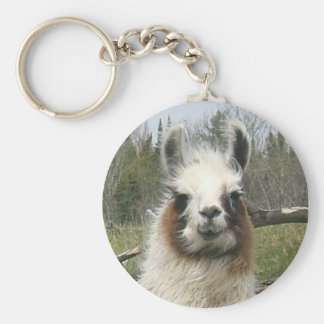 THE DAILY LLAMA BASIC ROUND BUTTON KEYCHAIN