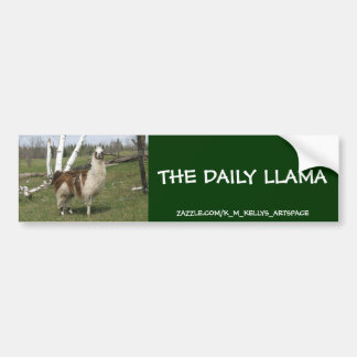 THE DAILY LLAMA BUMPER STICKER