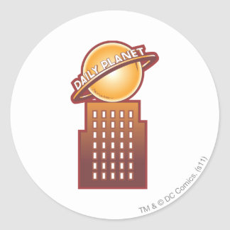 The Daily Planet Round Sticker