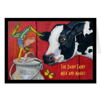 The Dairy Fairy greeting card
