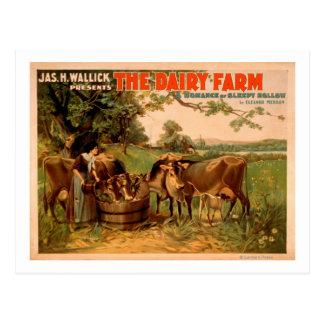 The Dairy Farm a Romance of Sleepy Hollow Play Postcard