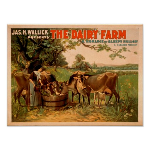The Dairy Farm a Romance of Sleepy Hollow Play Poster