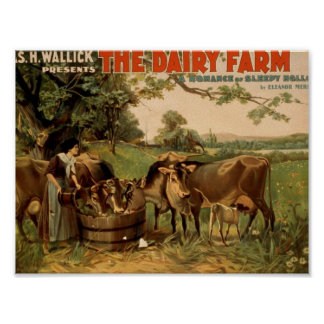 The Dairy Farm Retro Theater Poster