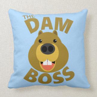 The Dam Boss Throw Pillow
