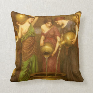 The Danaides by John William Waterhouse Throw Pillow