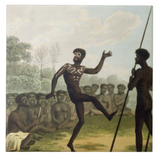 The Dance, aborigines from New South Wales engrave Ceramic Tiles