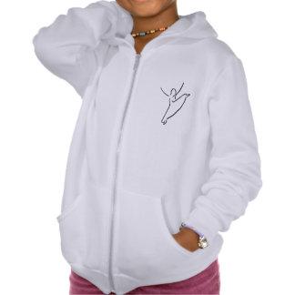 The Dance Center Girls' Zip Hoodie, American App. Hooded Sweatshirts