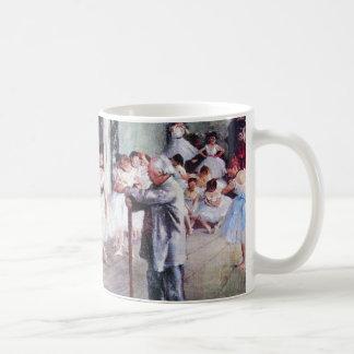 The Dance Class by Edgar Degas, Vintage Ballet Art Coffee Mug