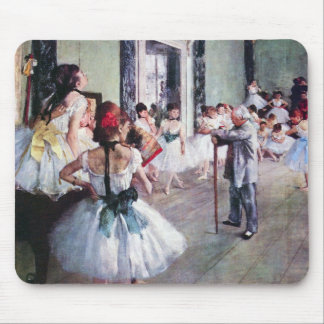 The Dance Class by Edgar Degas, Vintage Ballet Art Mouse Pad