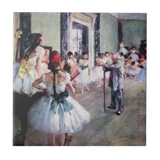 The Dance Class by Edgar Degas, Vintage Ballet Ceramic Tile