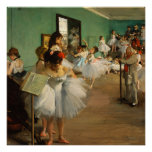 The Dance Class | Edgar Degas Poster