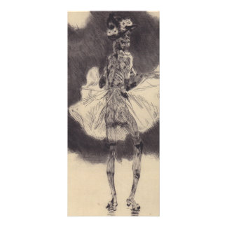 The Dance of Death by Felicien Rops Rack Card Design