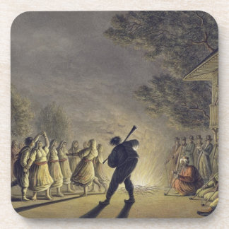 The Dance of the Bulgarian Peasants, pub. by Willi Drink Coaster