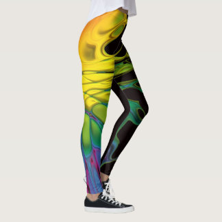 The Dancer #3(with colorful dancer at bottom) Leggings
