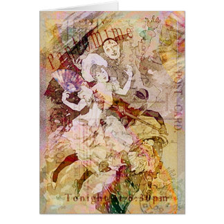The Dancer and the Pierrot Christmas Greeting Card