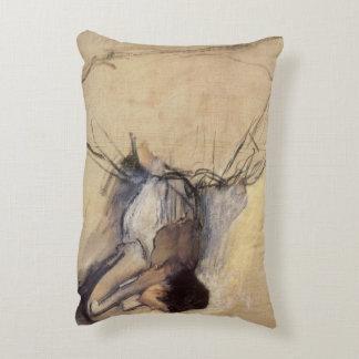 The Dancer by Edgar Degas, Vintage Ballerina Art Accent Pillow