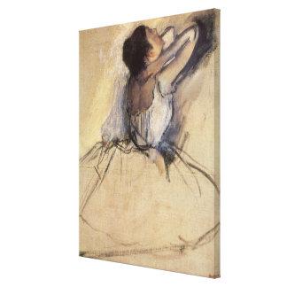 The Dancer by Edgar Degas, Vintage Ballerina Art Canvas Print