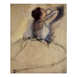 The Dancer by Edgar Degas, Vintage Ballerina Art Poster