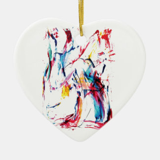 The Dancer Ceramic Heart Ornament