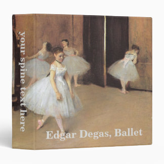 The Dancing Class by Edgar Degas, Vintage Ballet 3 Ring Binders