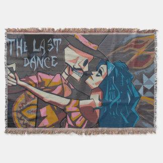 The Dancing Dead's Last Dance Street Art Blanket Throw