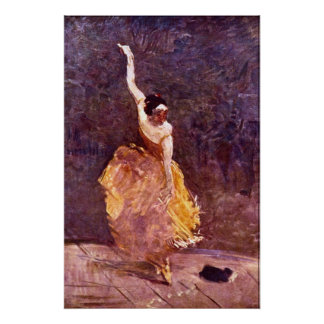 The Dancing Girl by Toulouse-Lautrec Poster
