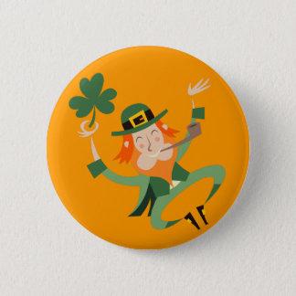 The Dancing Leprechaun 2 Inch Round Button