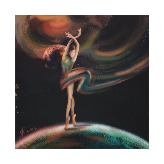 """The Dancing Universe "" Canvas Print"