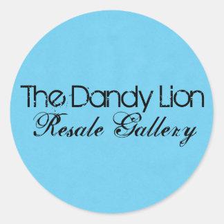 The Dandy Lion Resale Gallery Round Sticker